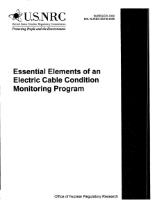 *U.S.NRC Essential  Elements  of an Electric  Cable  Condition