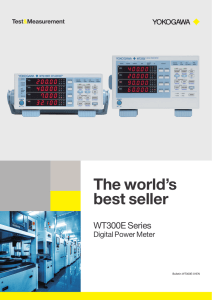 The world's best seller WT300E Series Digital Power Meter