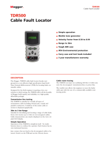 TDR500 Cable Fault Locator