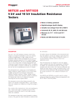 MIT520 and MIT1020 5 kV and 10 kV Insulation Resistance Testers