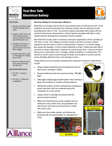Tool Box Talk Electrical Safety