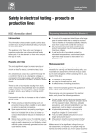 Safety in electrical testing – products on production lines HSE information sheet Introduction