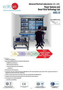 Power Systems and Smart Grid Technology Lab AEL-5 Advanced Electrical Laboratories