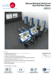 Advanced Mechanical, Electrical and Smart Grid Power Systems APS12 Technical Teaching Equipment