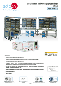 Modular Smart Grid Power Systems Simulators (Utilities) AEL-MPSS Technical Teaching Equipment
