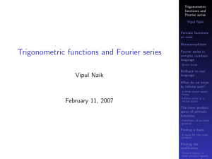 Trigonometric functions and Fourier series (Part 1)