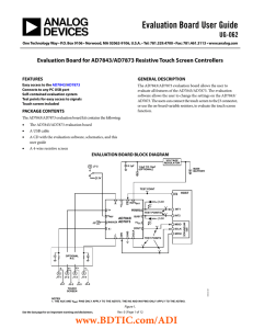 Evaluation Board User Guide UG-062