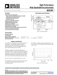High Performance Wide Bandwidth Accelerometer ADXL001 Preliminary Technical Data