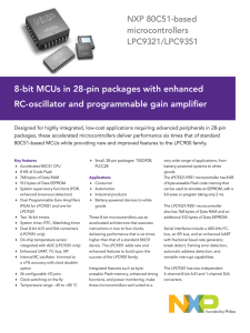 Headline 8-bit MCUs in 28-pin packages with enhanced NXP 80C51-based