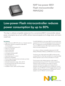 Low-power Flash microcontroller reduces power consumption by up to 80% Flash microcontroller