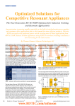 Optimized Solutions for Competitive Resonant Appliances and Resonant Applications