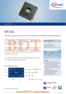 BDTIC KP200 PRO-SIL™ Pressure Sensor for Side Crash Detection and Pedestrian Protection...