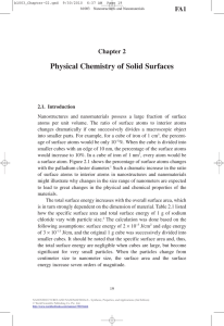 Cao-Wang - Physical Chemistry of Solid Surfaces - Chapter 2 of Nanostrcutures and Nanomaterials.