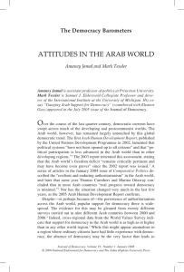 democracy in the arab world