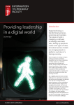 Providing leadership in a digital world Introduction Summary