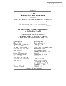 Brief amicus curiae of the Brennan Center for Justice at NYU School of Law