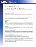 Faraday Science Communicator Award
