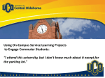 Using On-Campus Service Learning Projects to Engage Commuter Students