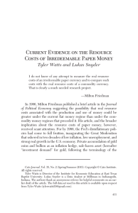 Current Evidence on the Resource Costs of Irredeemable Paper Money