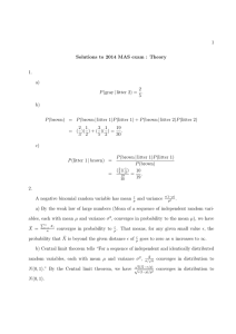 Solutions to MAS Theory Exam 2014