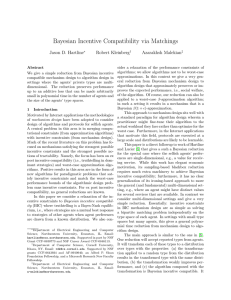 Bayesian incentive compatibility via matchings.