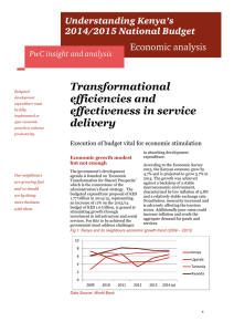 Transformational efficiencies and effectiveness in service delivery