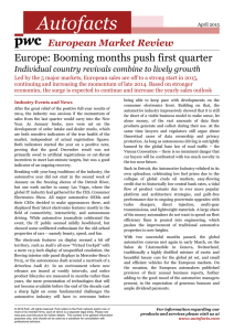 Autofacts Europe: Booming months push first quarter  European Market Review