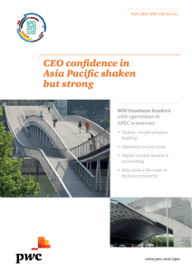 CEO confidence in Asia Pacific shaken but strong 800 business leaders