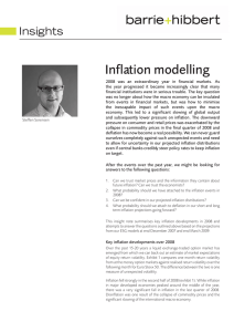 Inflation modelling Insights