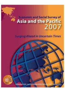 2007 Asia and the Pacific Surging Ahead in Uncertain Times