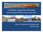 An Initiative Approach to Determine STATE  RAILWAY OF THAILAND