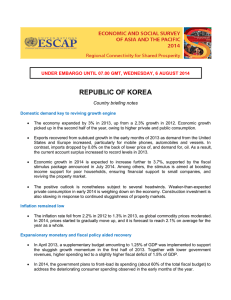REPUBLIC OF KOREA  Country briefing notes