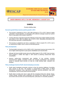 SAMOA UNDER EMBARGO UNTIL 07.00 GMT, WEDNESDAY, 6 AUGUST 2014