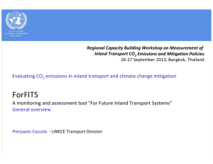 Regional Capacity Building Workshop on Measurement of  Inland Transport CO Emissions and Mitigation Policies