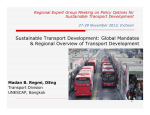 Sustainable Transport Development: Global Mandates & Regional Overview of Transport Development