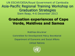 Asia-Pacific Regional Training Workshop on Graduation Strategies Graduation experiences of Cape