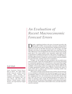D An Evaluation of Recent Macroeconomic Forecast Errors