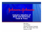 Industry Adoption of RFID and Electronic Track & Trace Mike Rose
