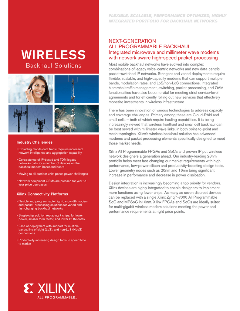 Xilinx Wireless Backhaul Solutions