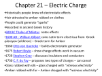 Chapter 21 = Electric Charge Lecture