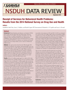 NSDUH  DATA REVIEW