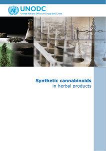 Synthetic cannabinoids in herbal products