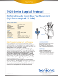 T400-Series Surgical Protocol Rat Ascending Aorta: Chronic Blood Flow Measurement Volume Flow