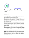 Emergency Disinfection of Drinking Water