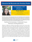 Shelly Peyton Friday, September  11, 2015 10:00-11:00 a.m. 102 Colburn Lab