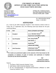 UNIVERSITY OF DELHI OFFICE OF THE CHIEF ELECTION OFFICER DUSU ELECTIONS 2015-2016