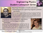 Engineering Physics Student Colloquium Series July 2, 2015 4:30-6:00