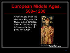 European Middle Ages, 500–1200