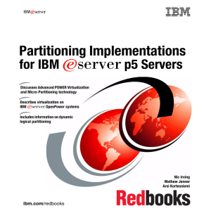 Partitioning Implementations for IBM E p5 Servers