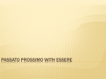 Passato Prossimo with Essere - Elmwood Park Memorial High School